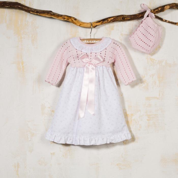 BABY DRESS WITH BONNET TOJOS