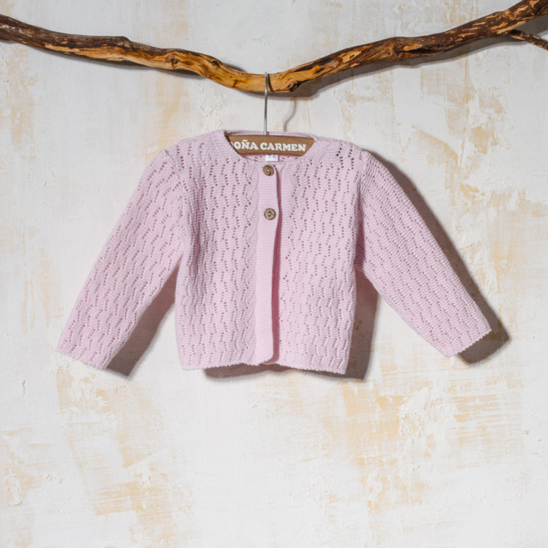 PINK KNITTED CARDIGAN ESPIGA