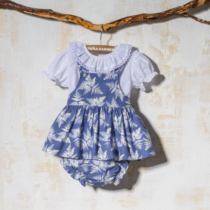 GIRL DRESS WITH SHIRT PLANTAS