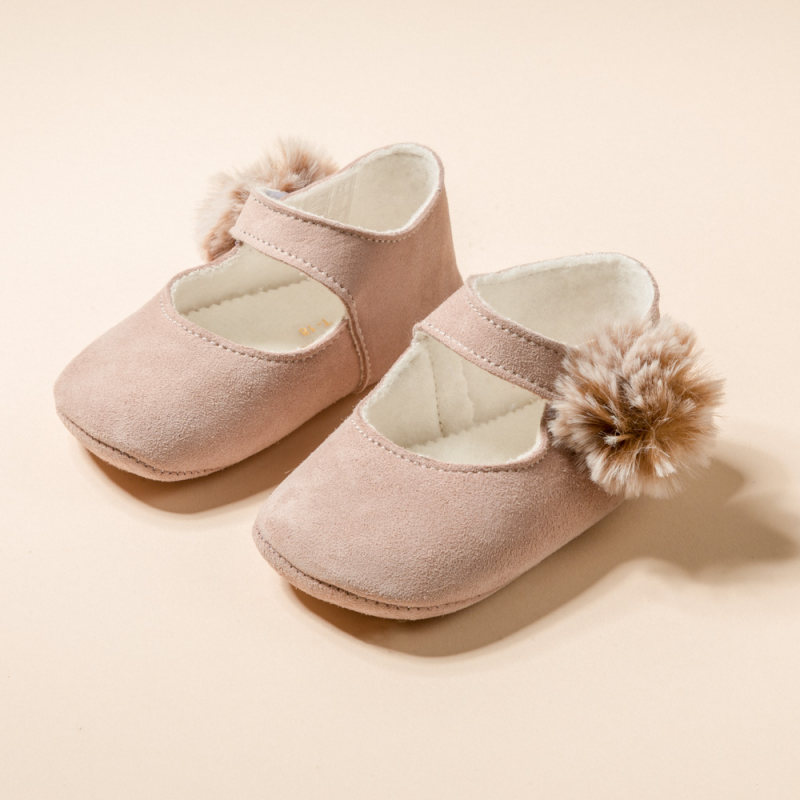 LITTLE MARY JANE SHOES POMPON
