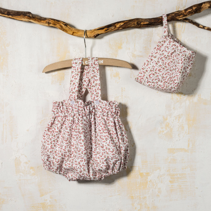 BABY ROMPER WITH BONNET LEILA