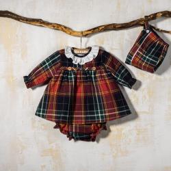BABY DRESS IRIS AND BONNET