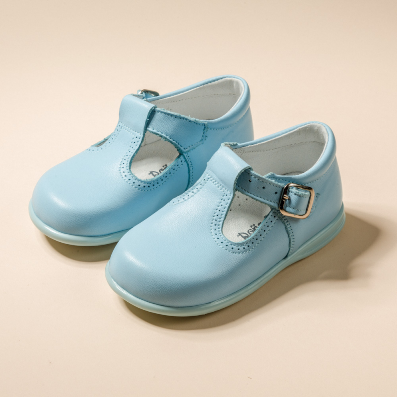 LEATHER T STRAP SHOES PEPITOS