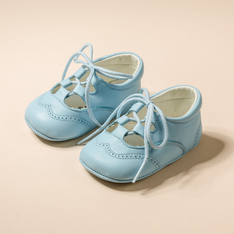 SOFT LEATHER ENGLISH STYLE SHOES FOR BABY