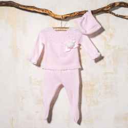 PINK 3 PIECES FOOTED PANTS JUCAR
