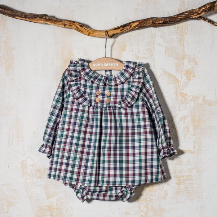 BABY DRESS WITH PANTIES GAVIOTA