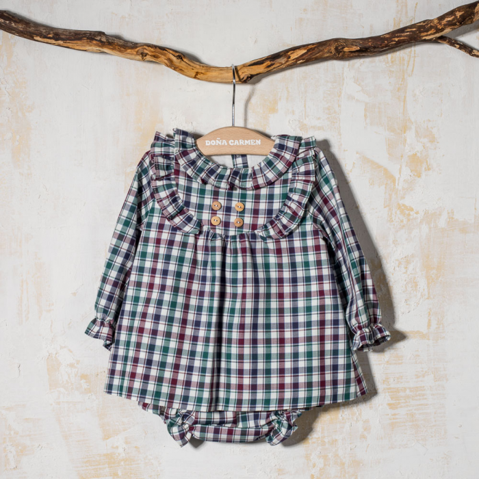 BABY DRESS WITH PANTIES GAVIOTA