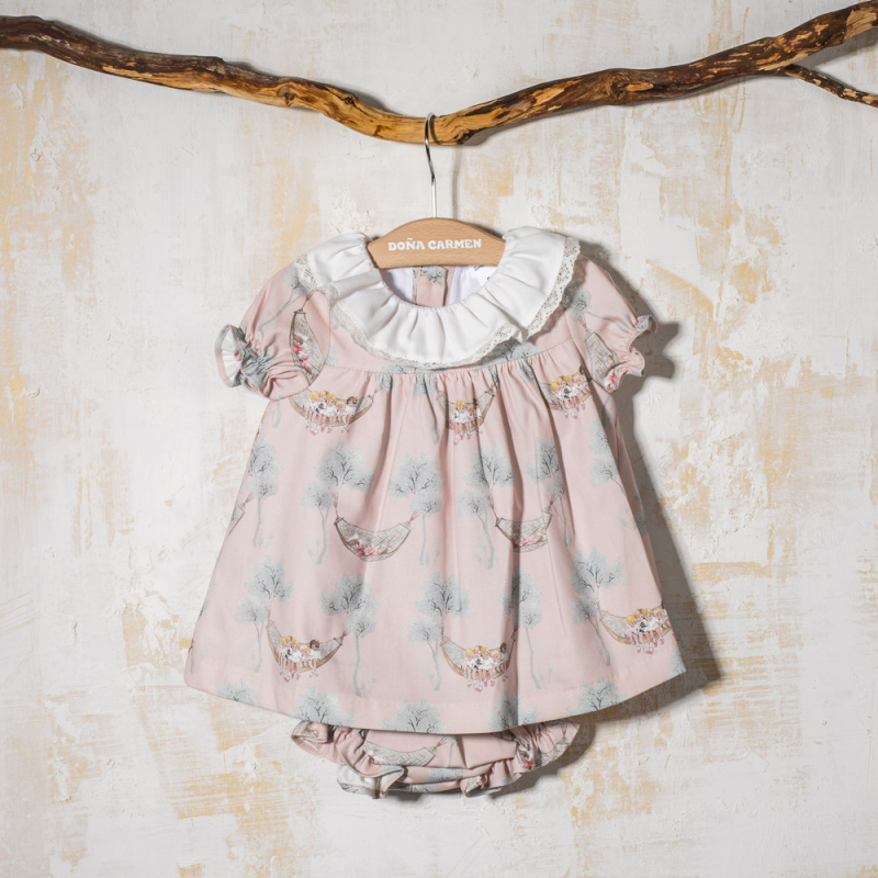 GIRL DRESS WITH BLOOMERS HAMACAS