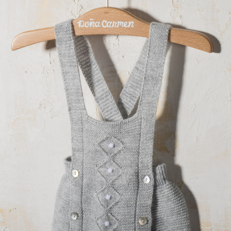 KNITTED DUNGAREE ROMBO
