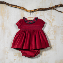SMOCKED DRESS WITH PANTIES CUENCA
