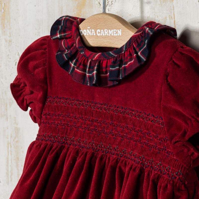 SMOCKED DRESS WITH PANTIES CUENCA