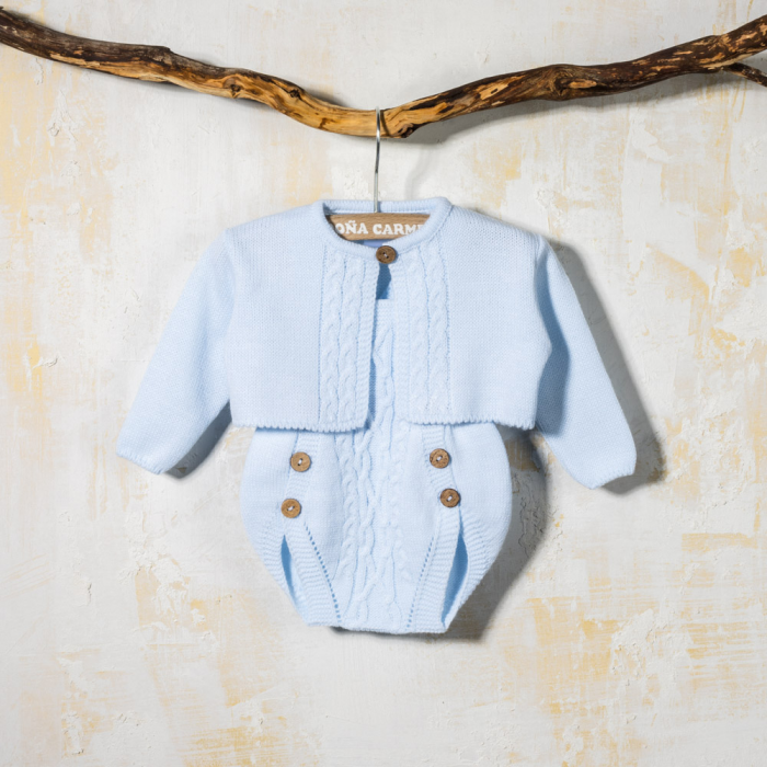KNITTED BABY ROMPER WITH SWEATER