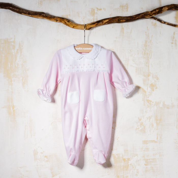 COTTON BABY SLEEPSUIT CISNE