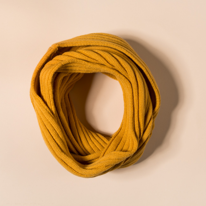 NECK SCARF CANALE MUSTARD