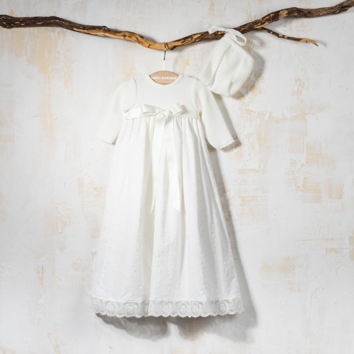 CHRISTENING GOWN WITH BONNET VALS