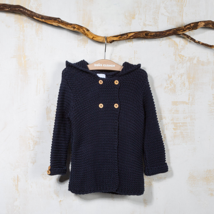 NAVY WOOL COAT TOLEDO