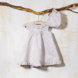 BABY GOWN ANA WITH BONNET