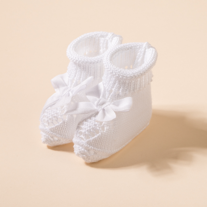 WHITE BABY BOOTIES CASPER