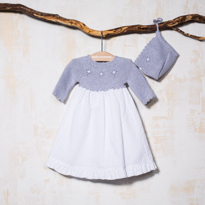 BABY DRESS WITH BONNET ASTRO