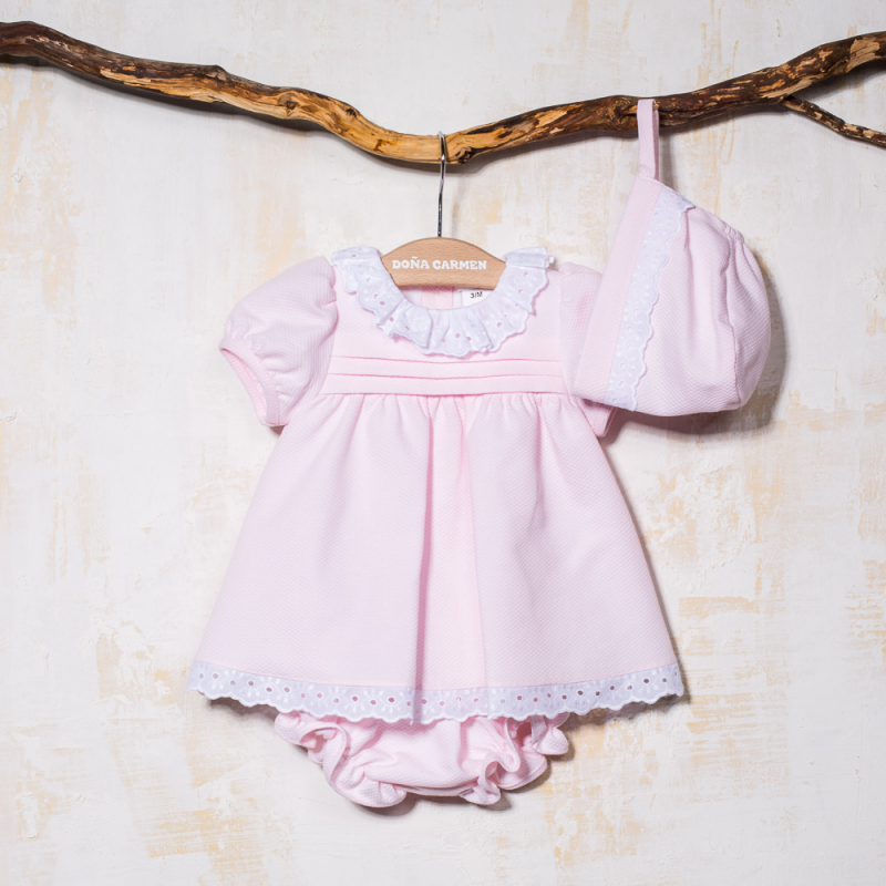 DRESS WITH KNICKERS AND BONNET ZASY