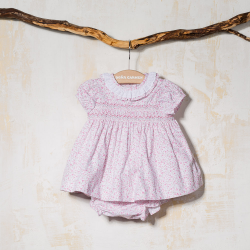 DRESS WITH KNICKERS WITH BONNET FLOREADO