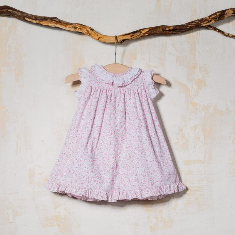 SMOCKED BABY DRESS FLOREADO