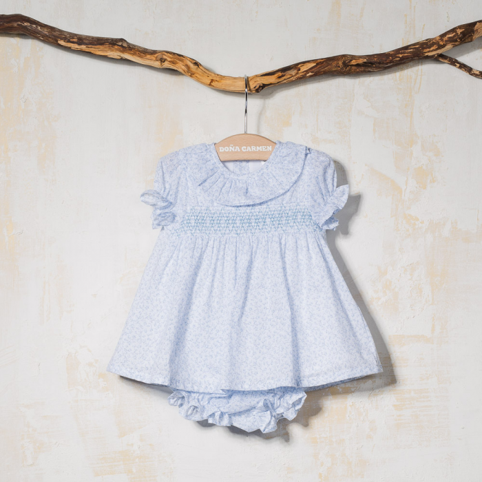SMOCKED DRESS WITH KNICKERS CHIA