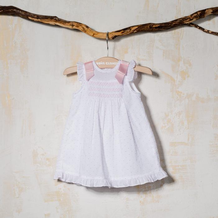 SMOCKED BABY DRESS PERDIZ