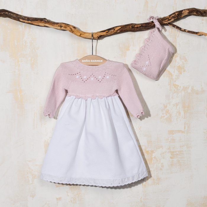 BABY DRESS WITH BONNET ARCO