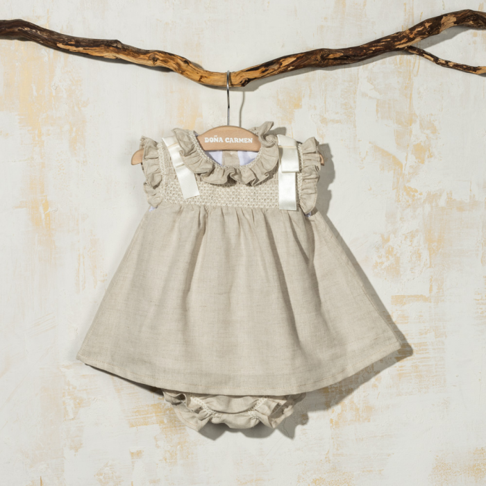 SMOCKED DRESS WITH KNICKERS AMAYA
