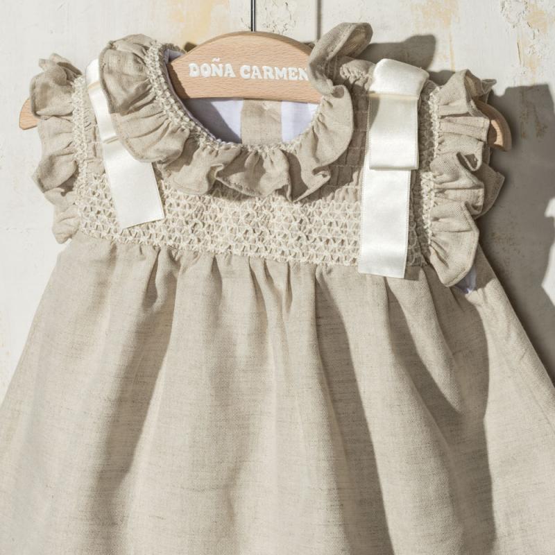 SMOCKED DRESS WITH KNICKERS AMAYA