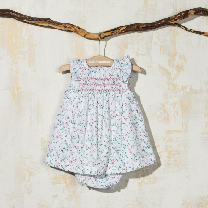 SMOCKED DRESS WITH KNICKERS OCTAVIA