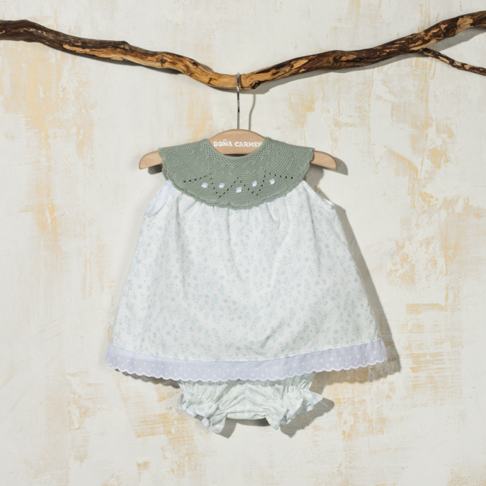 SMOCKED DRESS WITH KNICKERS ANNI