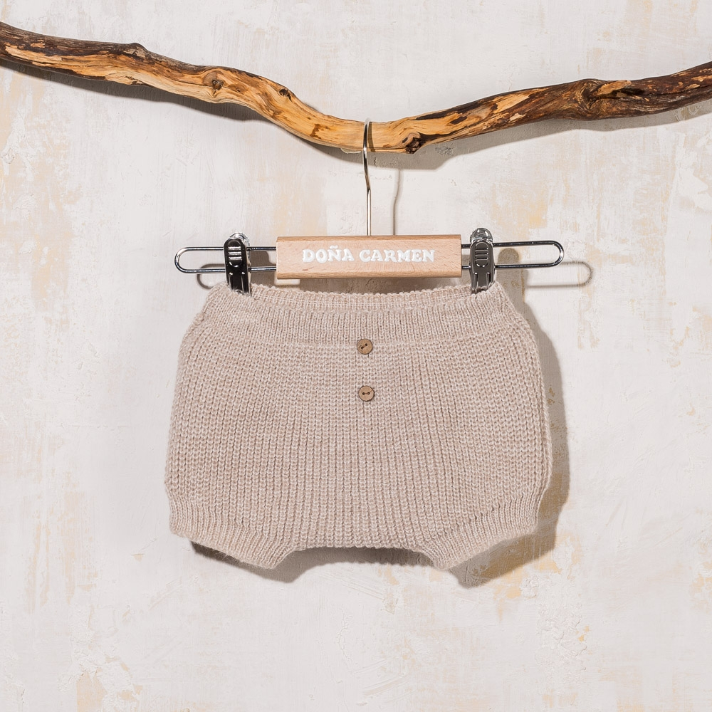 BEIGE KNITTED CULOTTE TORRE