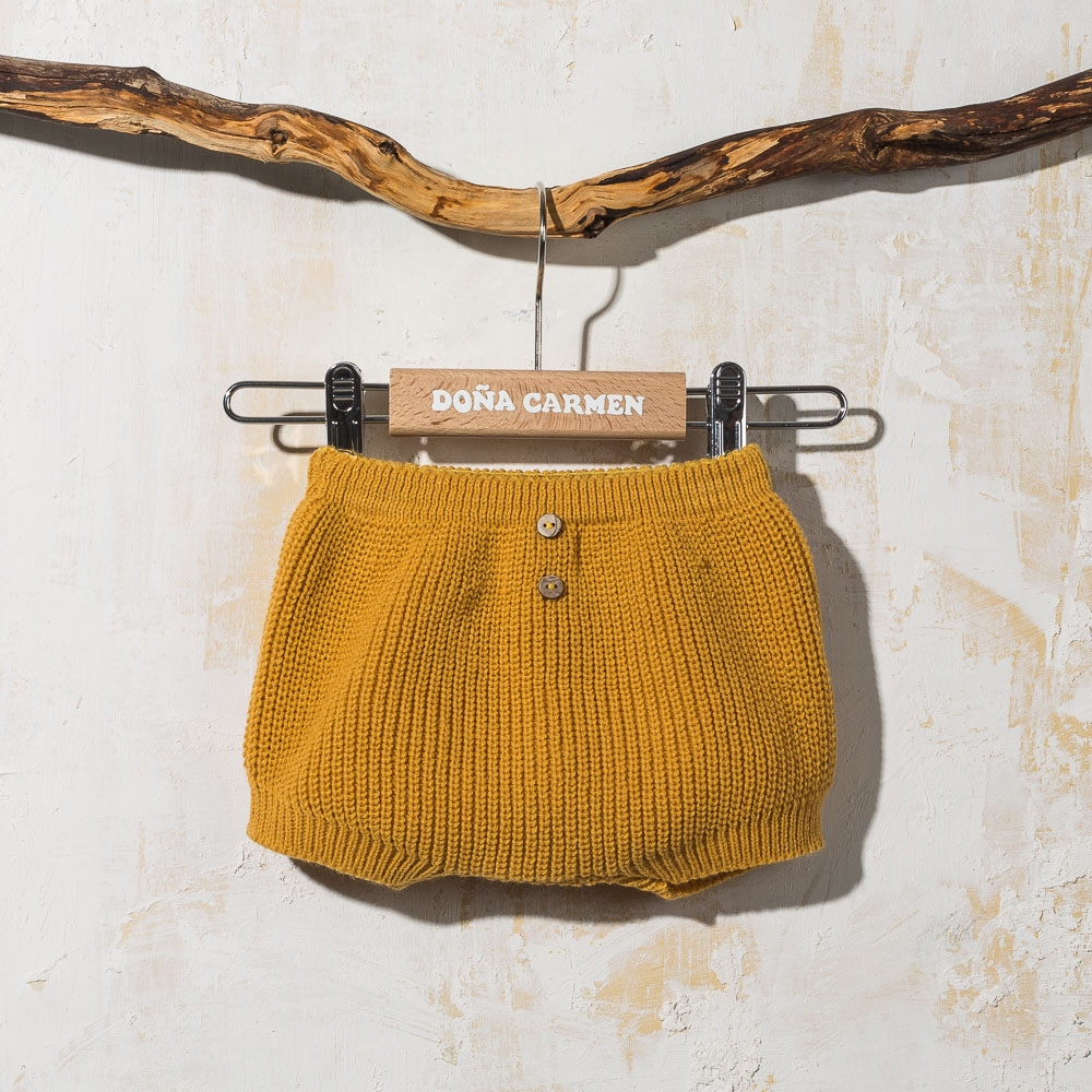 MUSTARD KNITTED CULOTTE TORRE