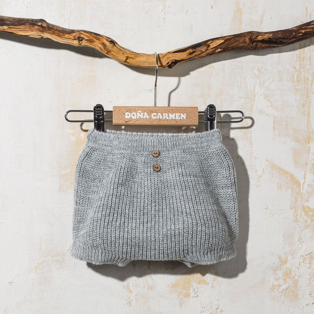 GREY KNITTED CULOTTE