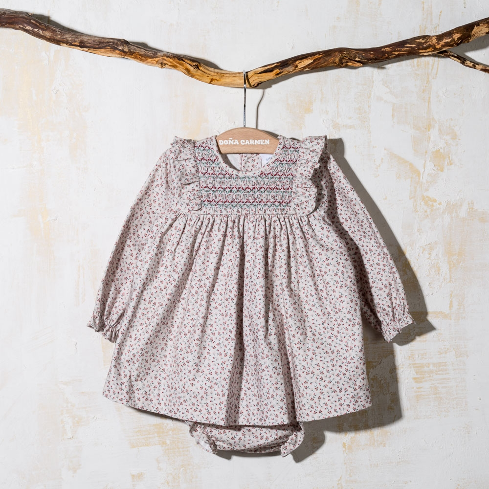 SMOCKED DRESS WITH KNICKERS TERESA