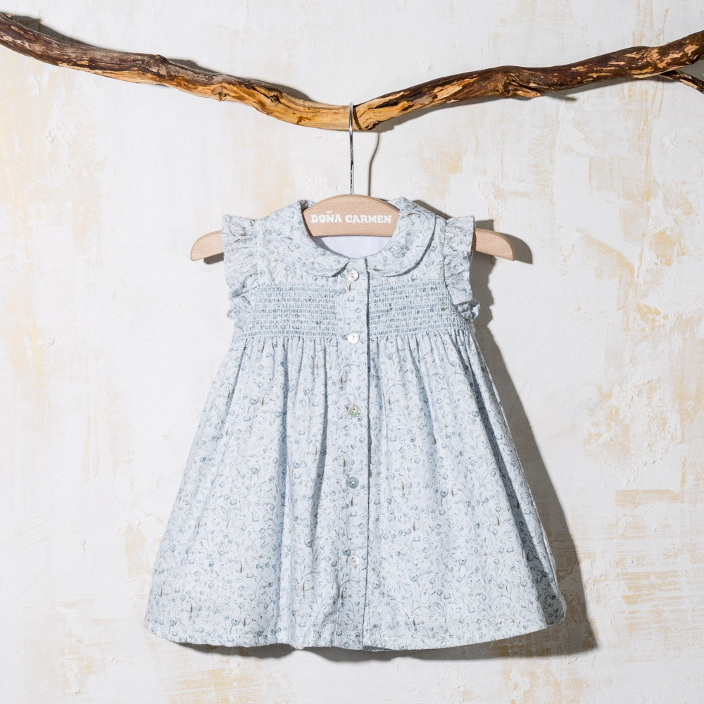 SMOCKED BABY DRESS CANICH