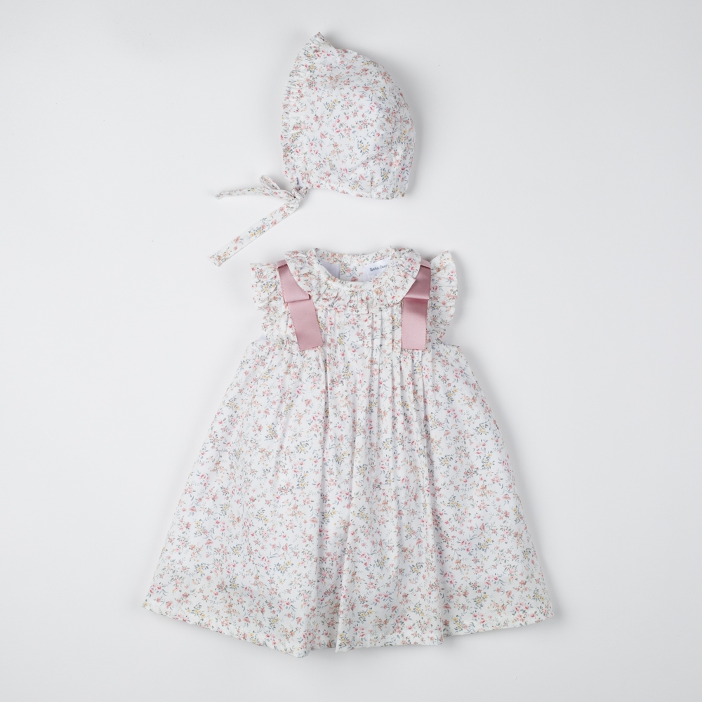 BABY DRESS WITH BONNET COLIBRÍ