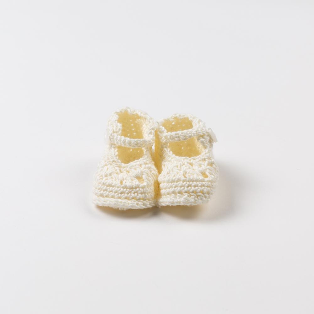 BEIGE BABY BOOTIES CROCHET
