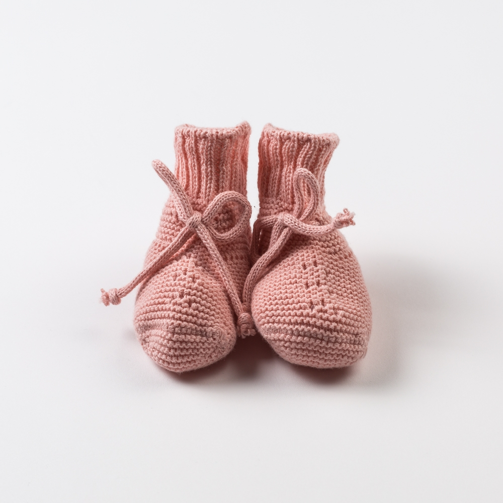 PALE PINK BABY BOOTIES PRISMA