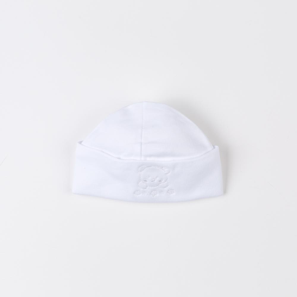 WHITE COTTON BABY BONNET OSO
