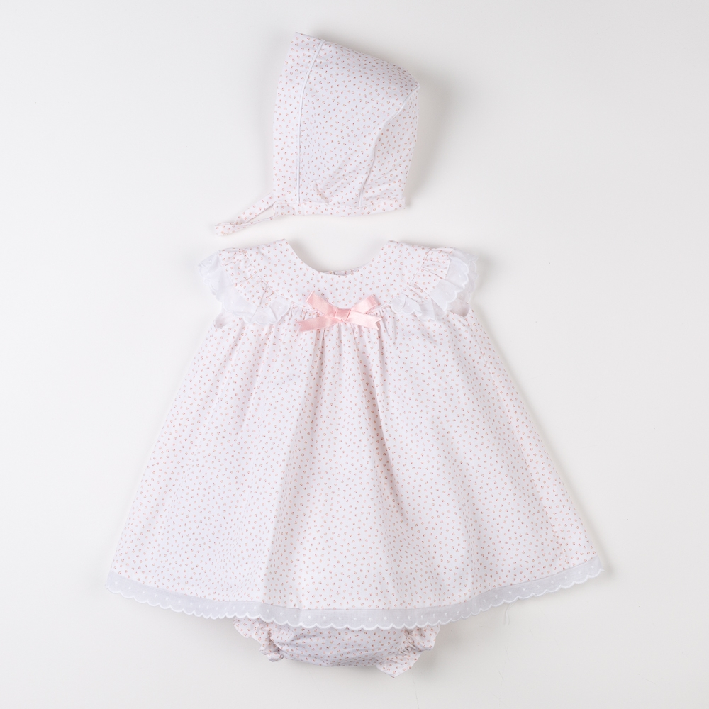 BABY DRESS WITH CULOTTE AND BONNET PALMA