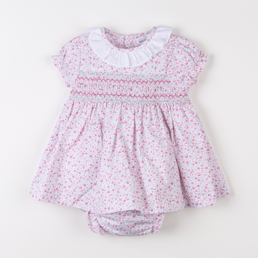 SMOCKED DRESS WITH KNICKERS...