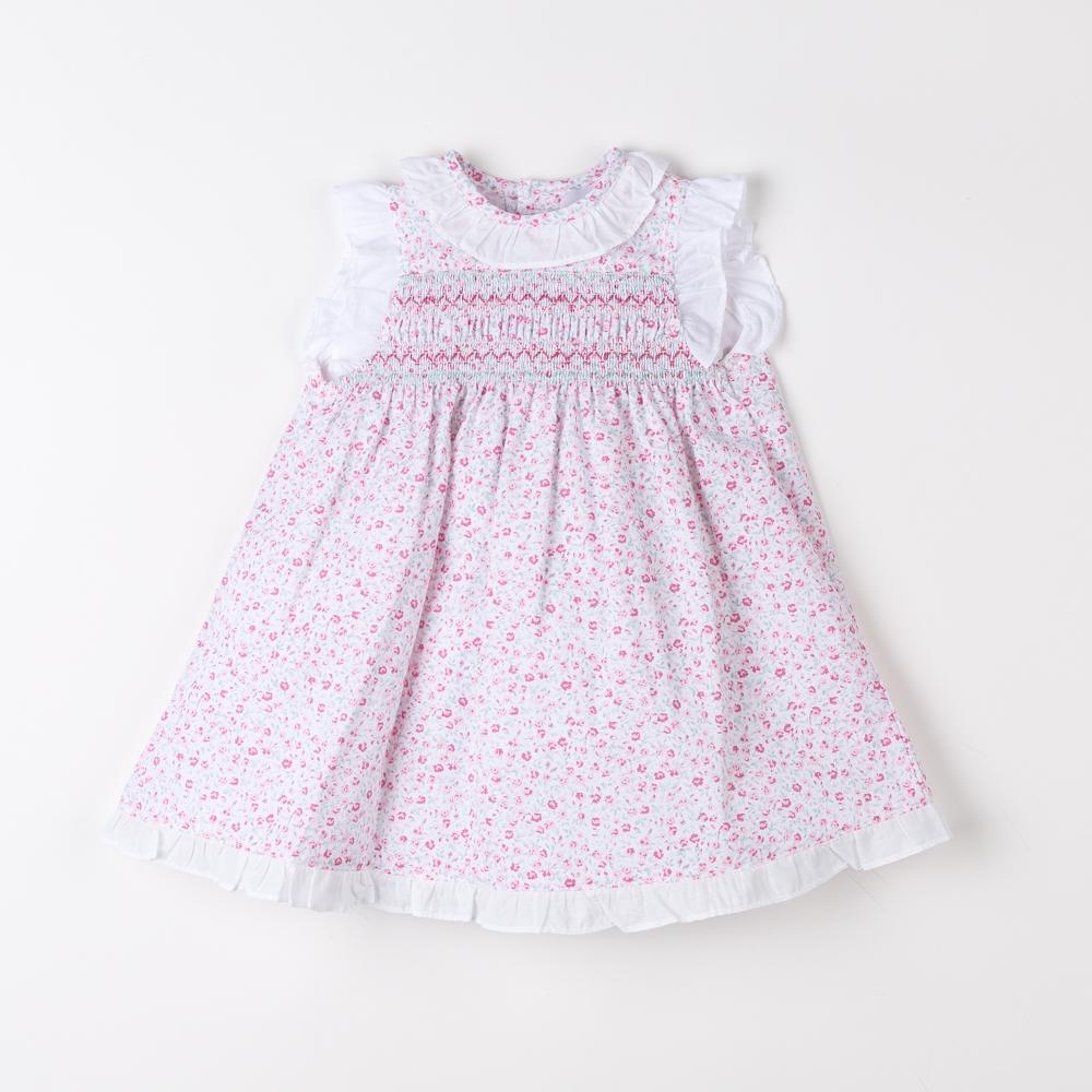 SMOCKED BABY DRESS COLLAR