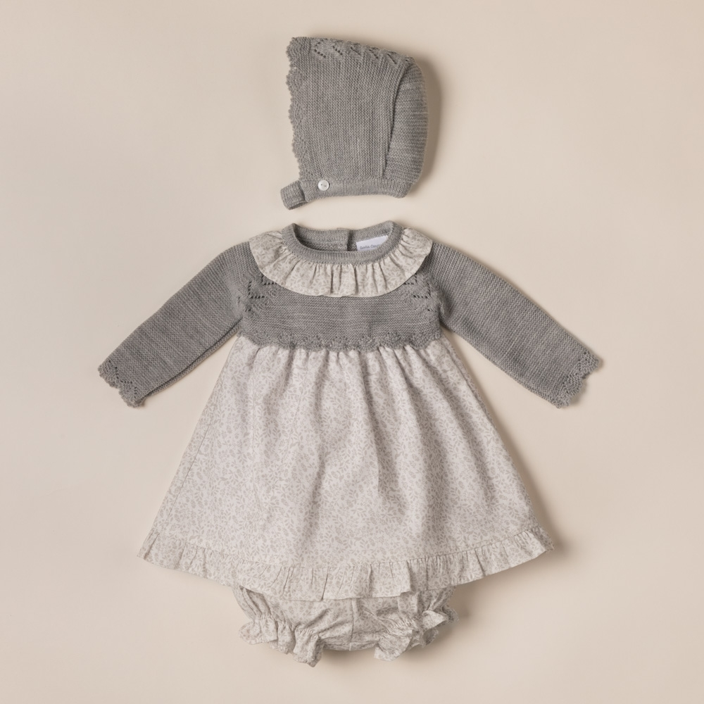 DRESS WITH KNICKERS AND BONNET ROZAS