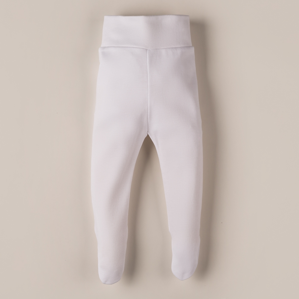 WHITE COTTON FOOTED PANTS MAIO