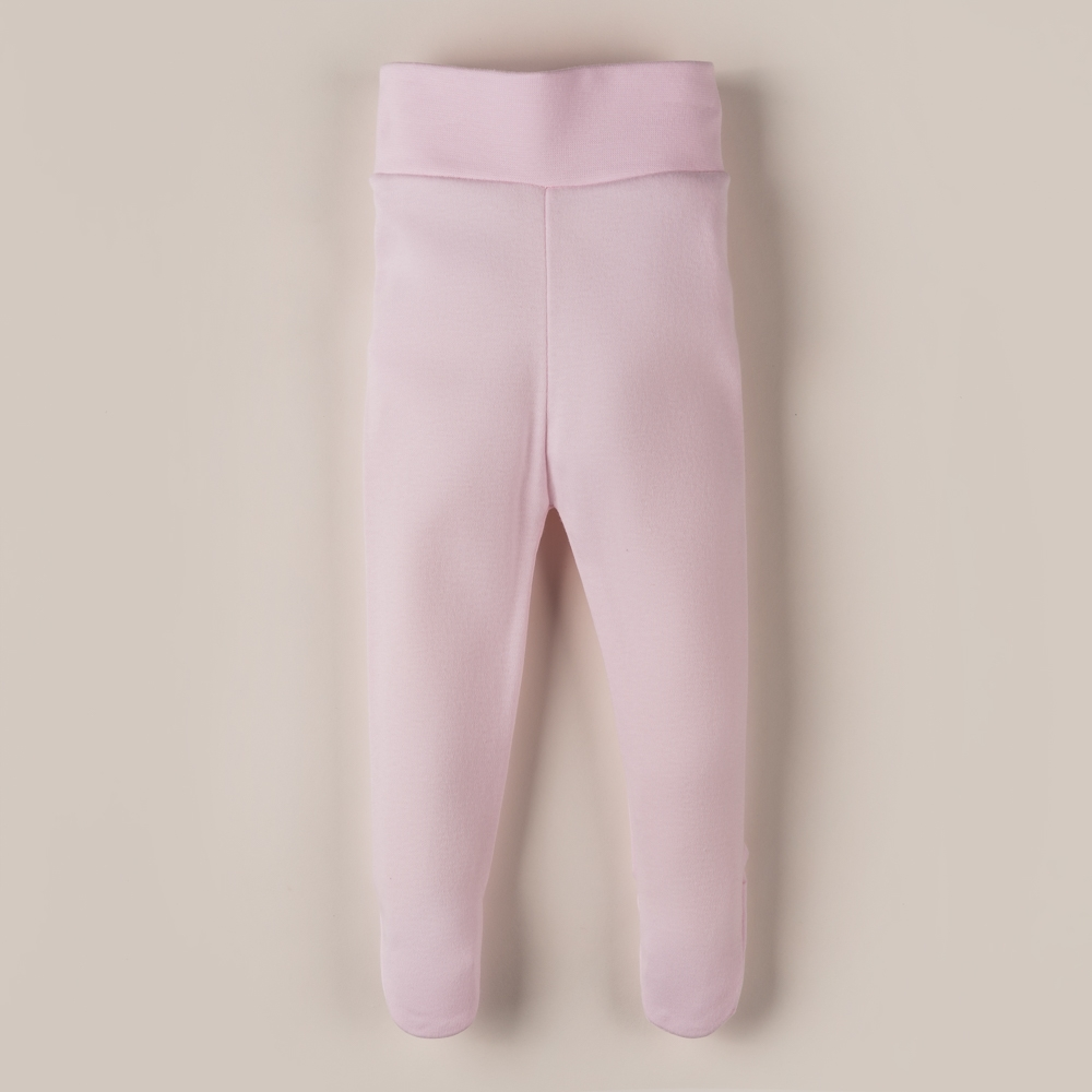 PINK COTTON FOOTED PANTS MAIO