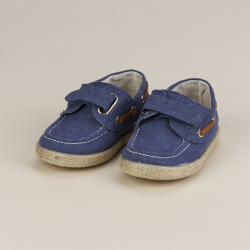 "CANVAS BOAT SHOE WITH VELCRO STRAP ""TEJANO"""