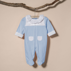 BLUE COTTON SLEEPSUIT  ZOGUES